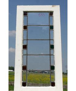 80 x 41 cm - Glas in lood raam No. 513
