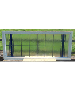 64,5 x 149,5 cm - Glas in lood raam No. 318