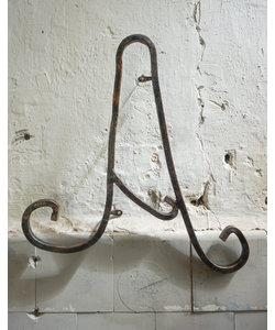 Metalen wandletter - A