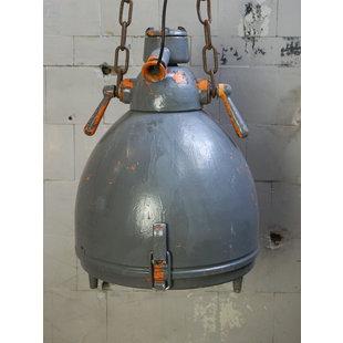 Vintage fabriekslamp DDR - Grey