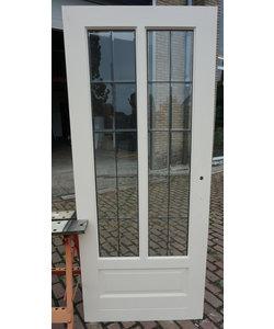 200,5 x 86 cm - Glas in lood deur 'Blank glas'