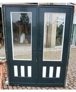 202 x 80 cm - Set ensuite deuren 'Donker groen No. 2'