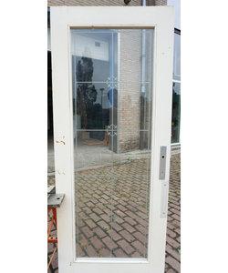 201 x79 cm - Oude deur met geëtst glas
