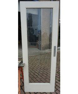 203,7 x76 cm - Oude deur met geëtst glas No. 2