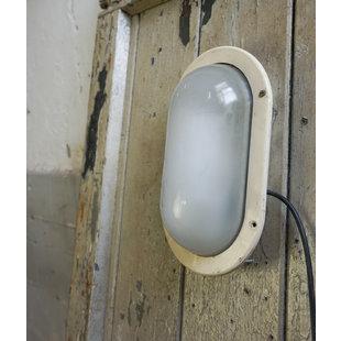 Ovalen wandlamp - Crème