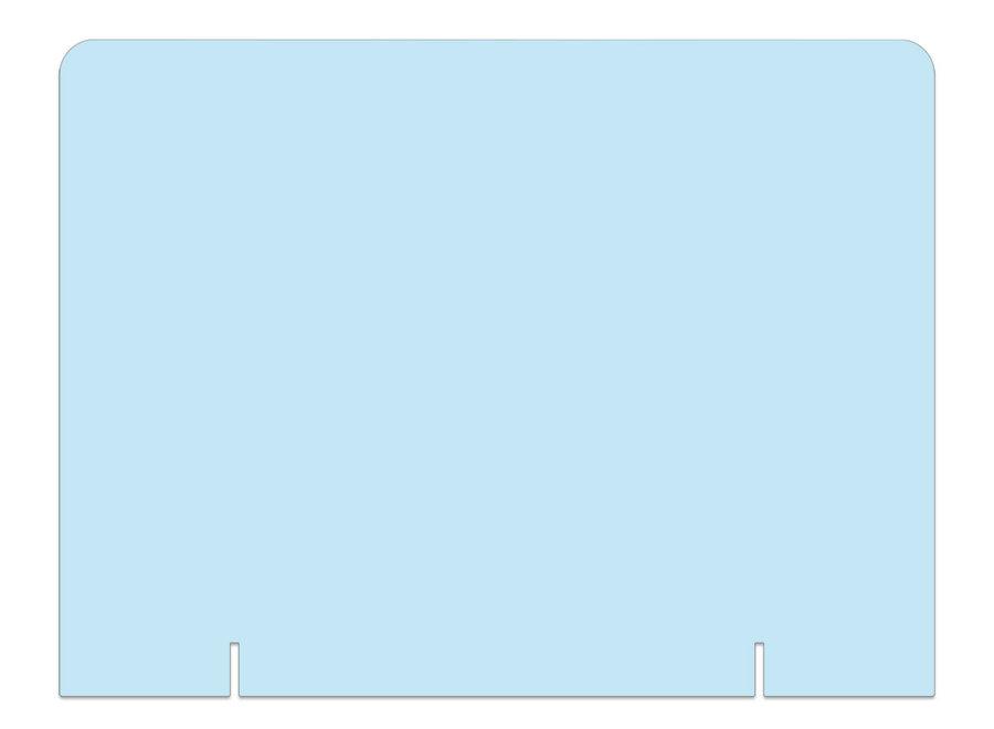 Plexiglas scherm staand zonder uitsparing - ECHT DIRECT LEVERBAAR