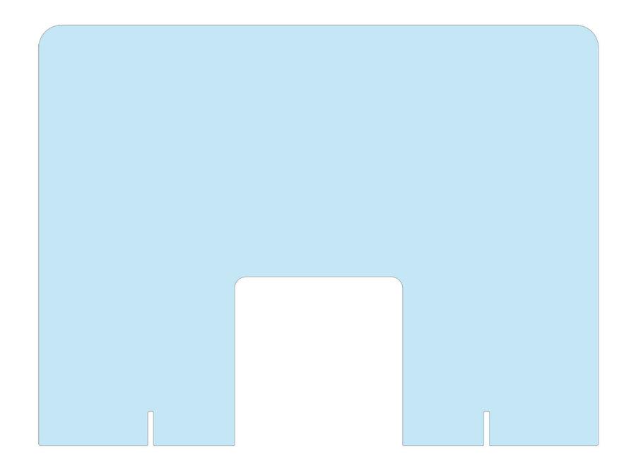 Plexiglass Manicure-screen standing