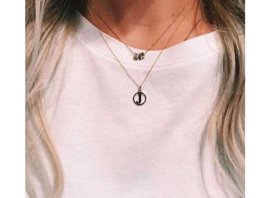 Charm Necklace with Letter