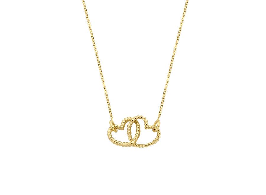 Vintage necklace Double Open Heart