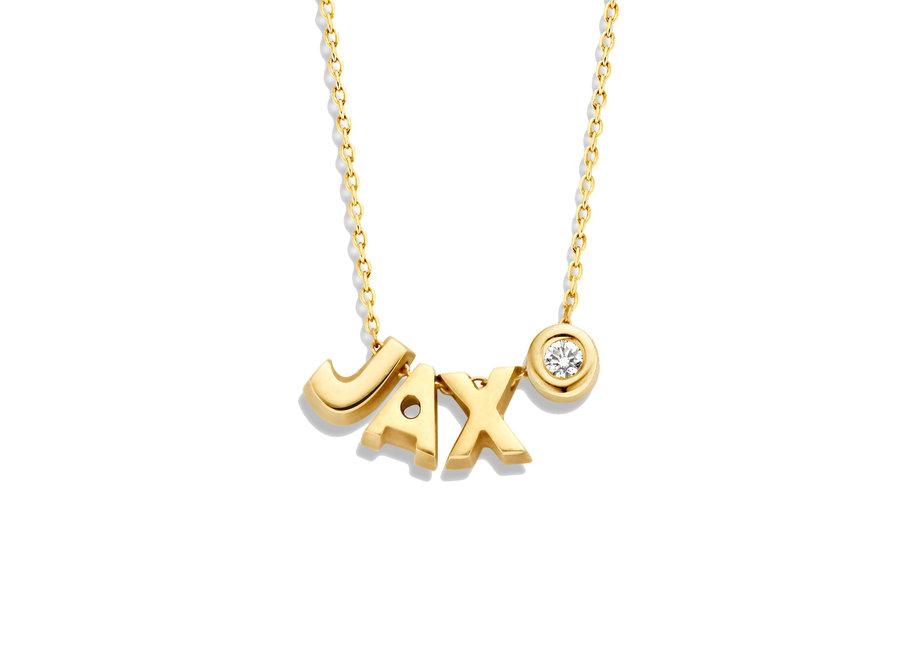 Capital Necklace 1 Diamond & 3 Capitals