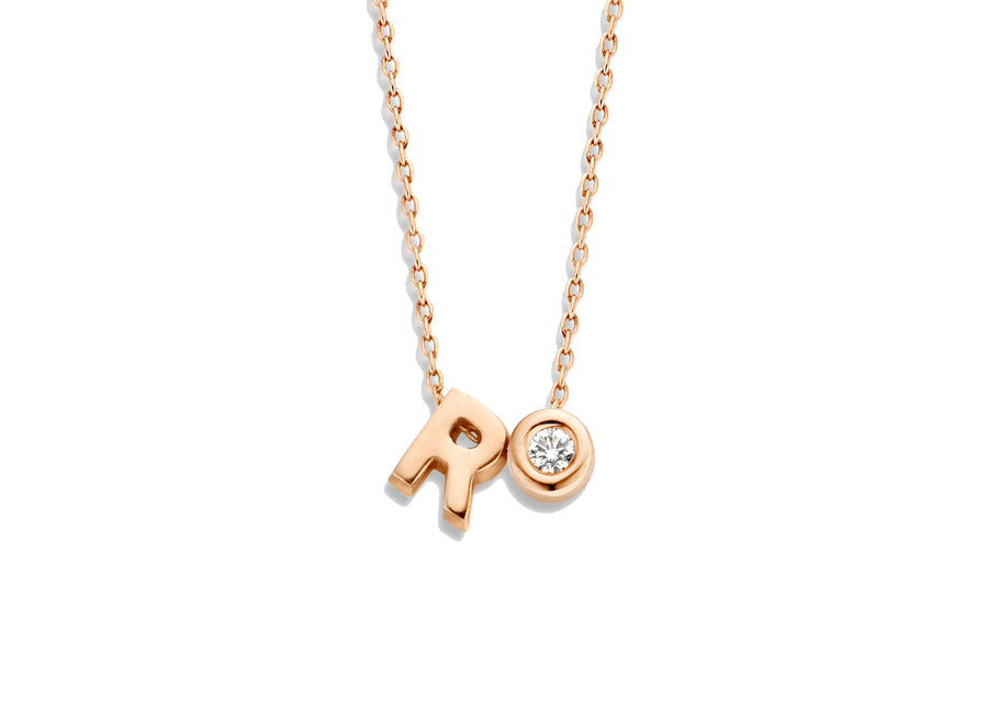 Capital Necklace 1 Diamond & 1 Capital