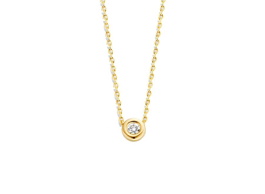 Capital Necklace 1 Diamond