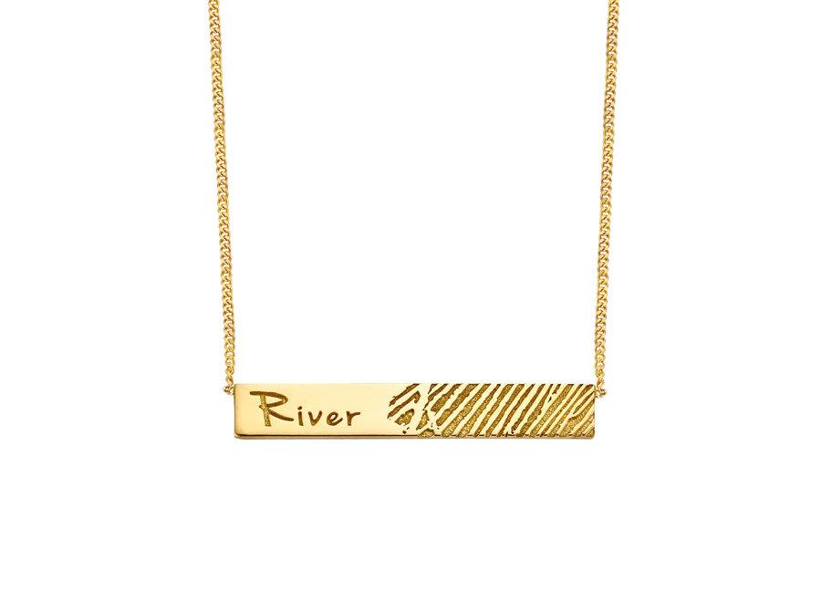 Bar Necklace 1 Fingerprint & Engraving