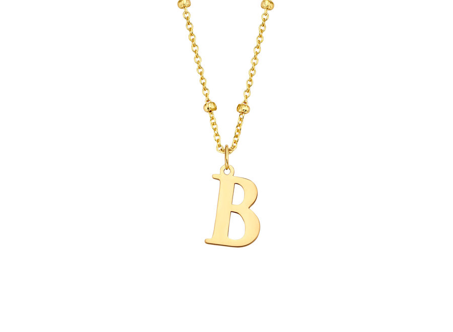 Charm Initial XL Bolletjes Collier