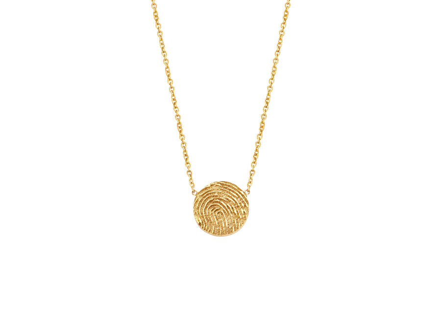 Iconic Necklace Coin  with Fingerprint