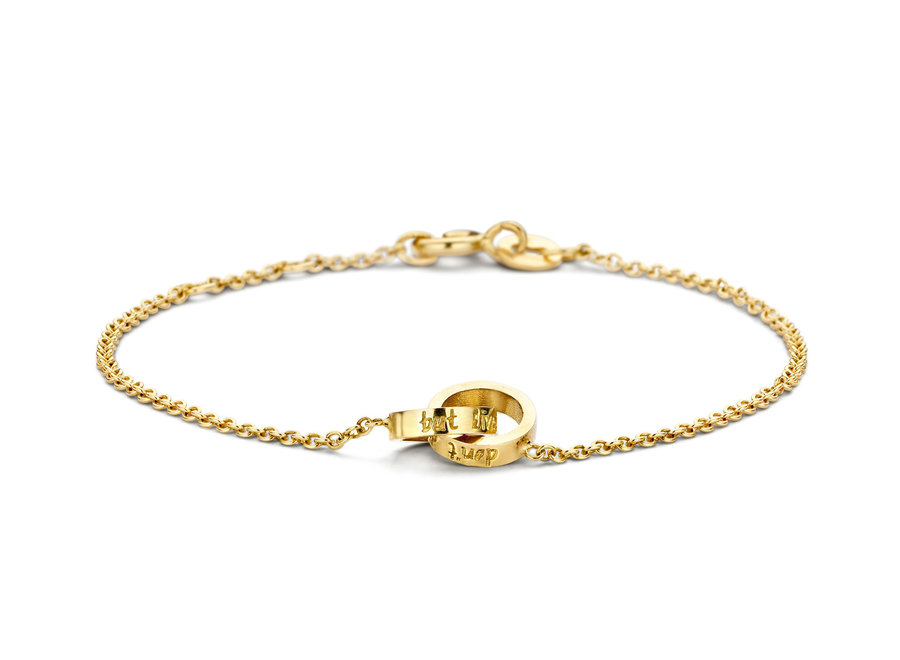 Iconic Bracelet Double Open Circle Chain with Engraving
