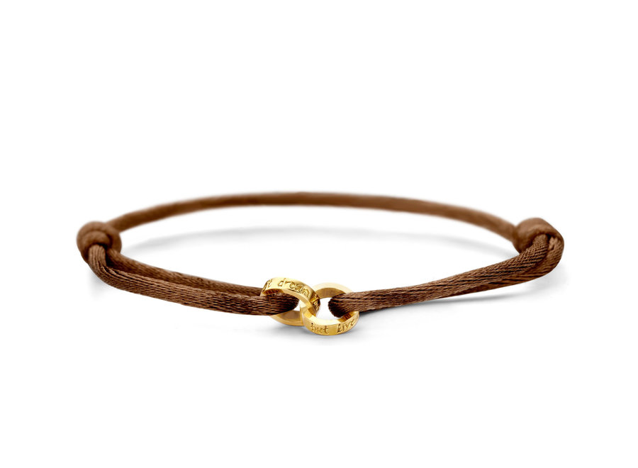 Iconic Bracelet Double Open Circle Cord with engraving