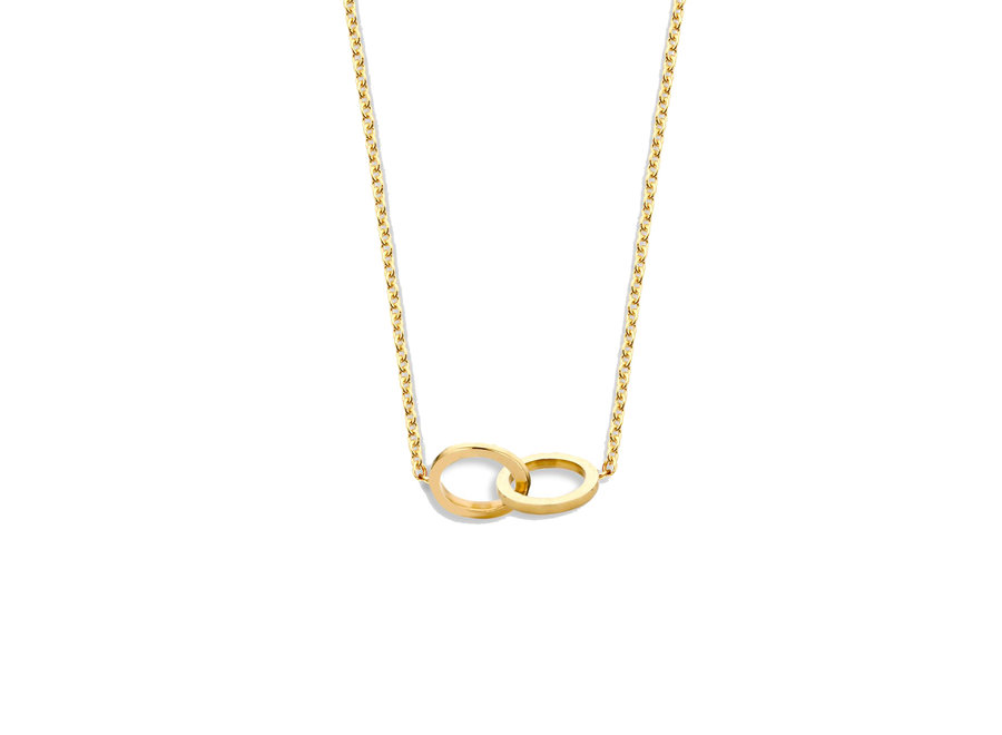 Iconic Double Open Circle Necklace