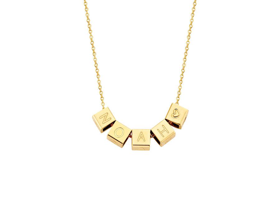 Cube Necklace 5 Cubes