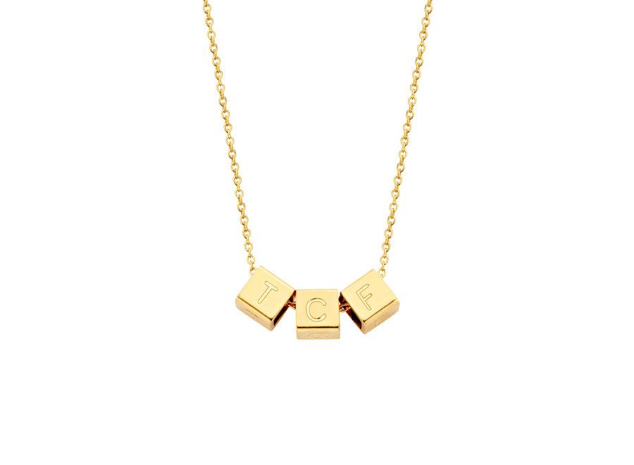 Cube Necklace 3 Cubes