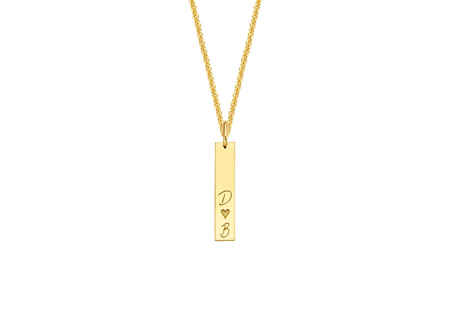 Identity Charm Vertical Bar with Necklace