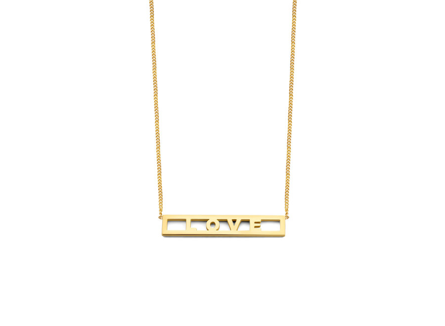 Love Bar Necklace 4 Letters