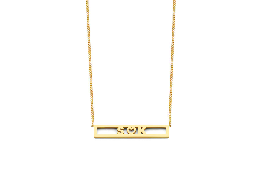 Love Bar Necklace 3 Letters