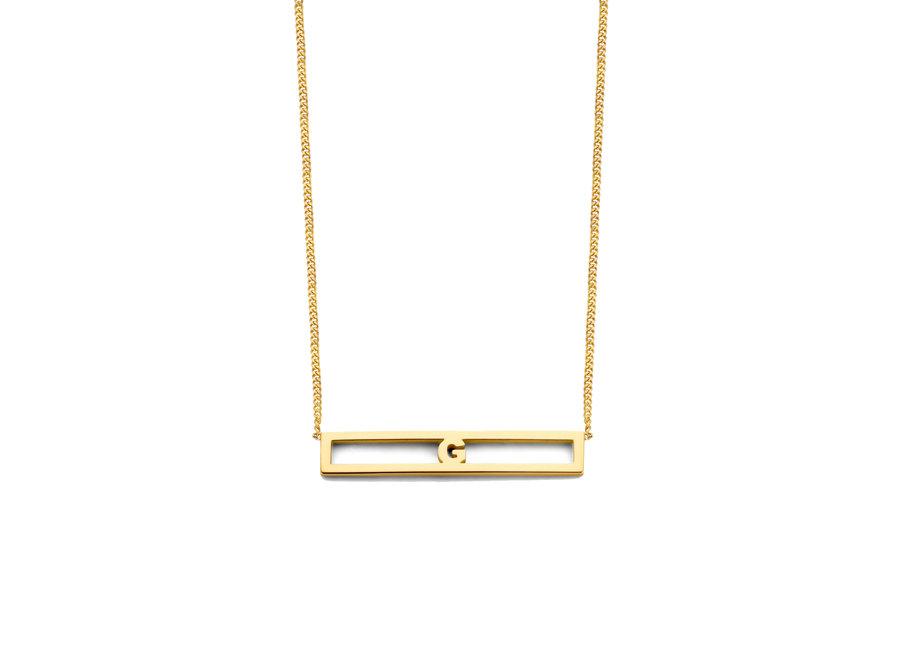 Love Bar Necklace 1 Letter