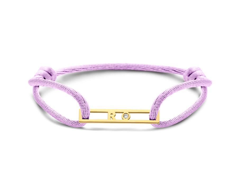 Love Bar Bracelet 1 Letter & 1 Diamant