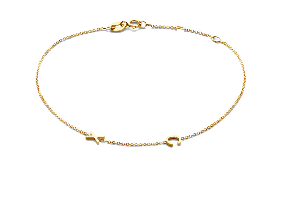 Love Letter Bracelet 2 Initials