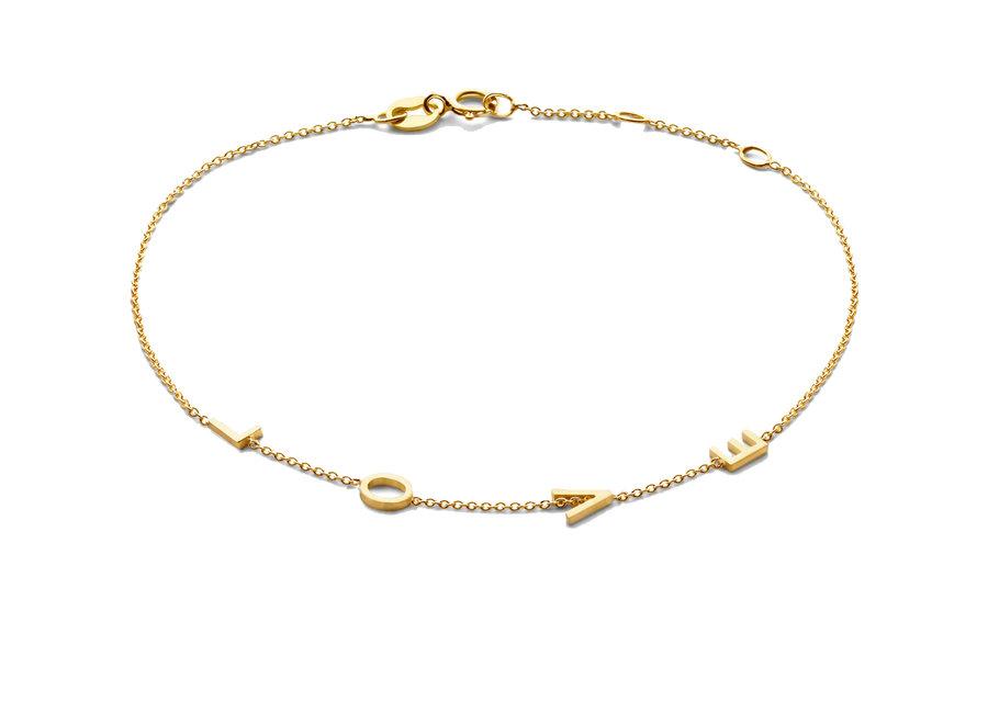 Love Letter Bracelet 4 Initials