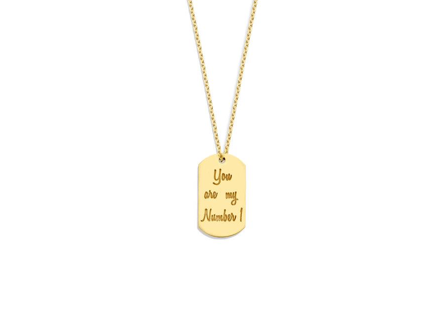 Tag Necklace 60 cm