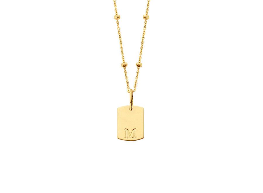 Mini Tag Necklace bolletjes