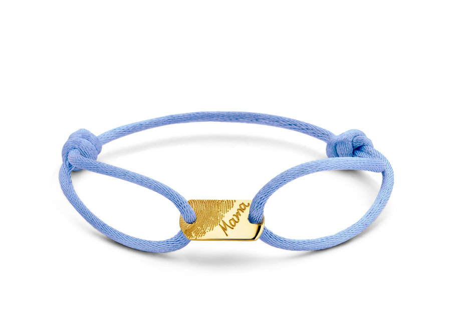 Tag Bracelet Small Cord with Fingerprint