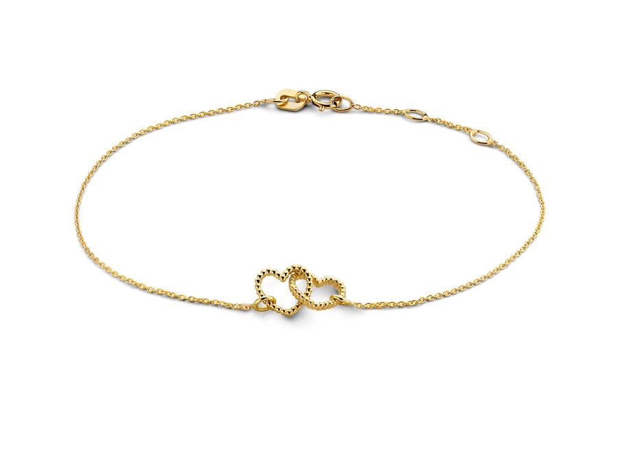 Vintage Bracelet Double Open Heart Chain