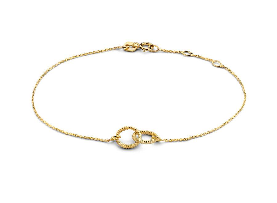 Vintage Bracelet Double Open Circle Chain