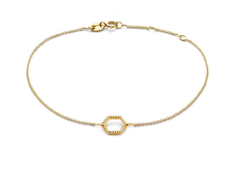 Vintage Bracelet Hexagon Chain