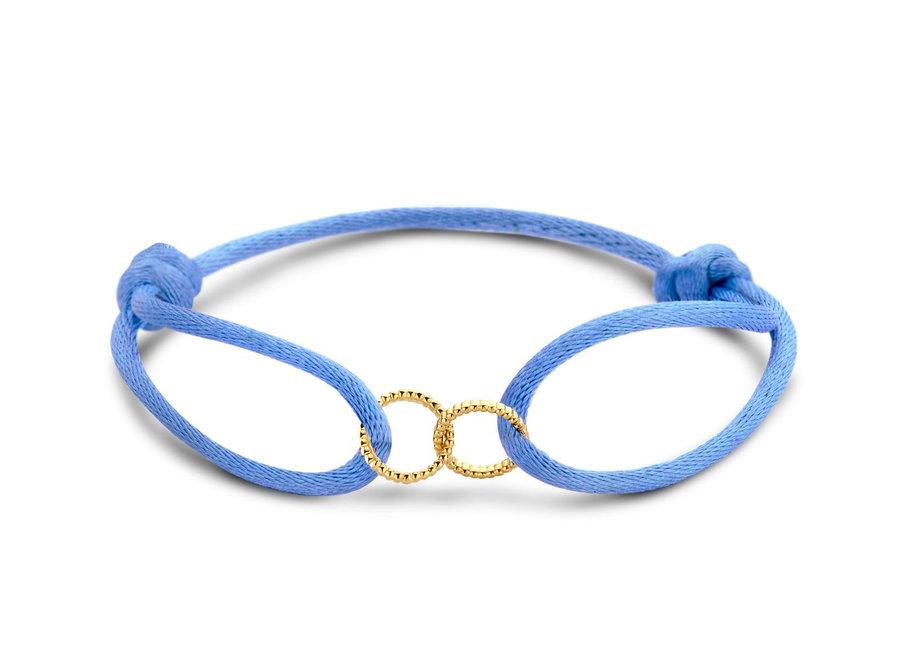 Vintage Bracelet Double Open Circle Cord