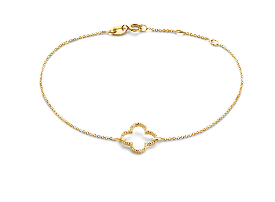 Vintage Bracelet Clover Chain