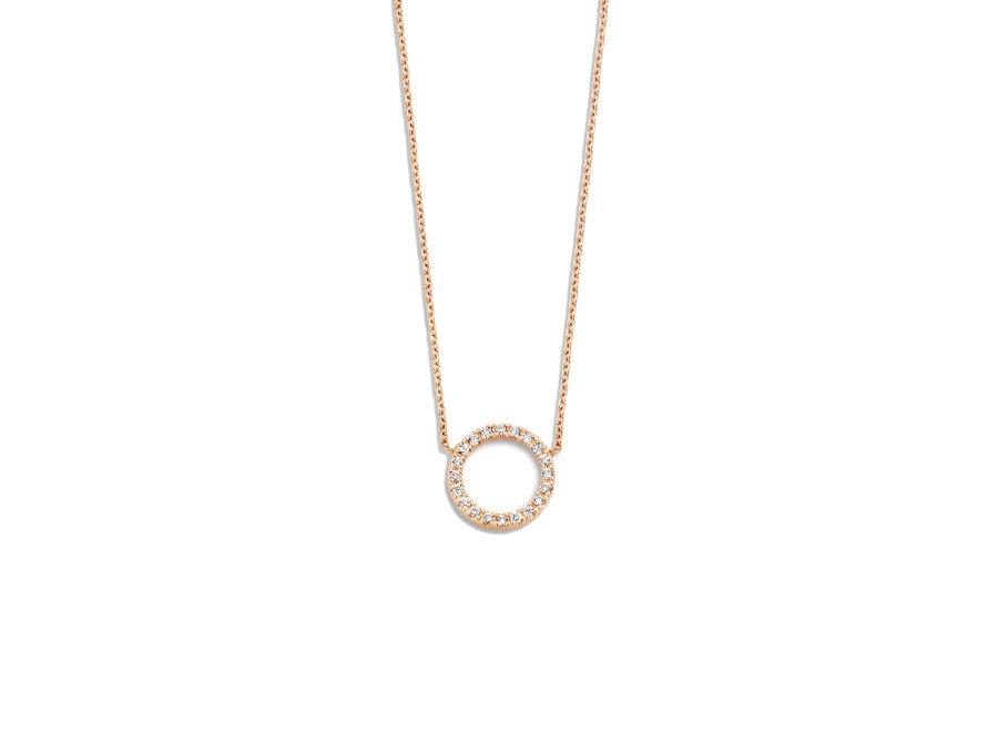 Just Diamond Necklace Open Circle