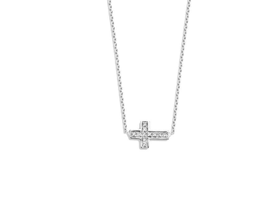 Just Diamond Necklace Cross