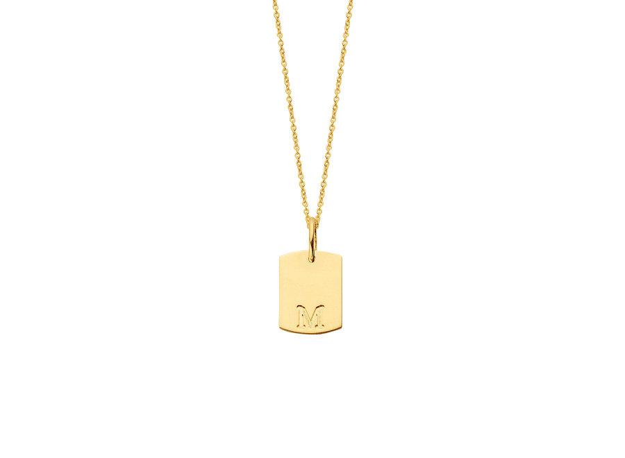 Mini Tag Necklace 50 cm