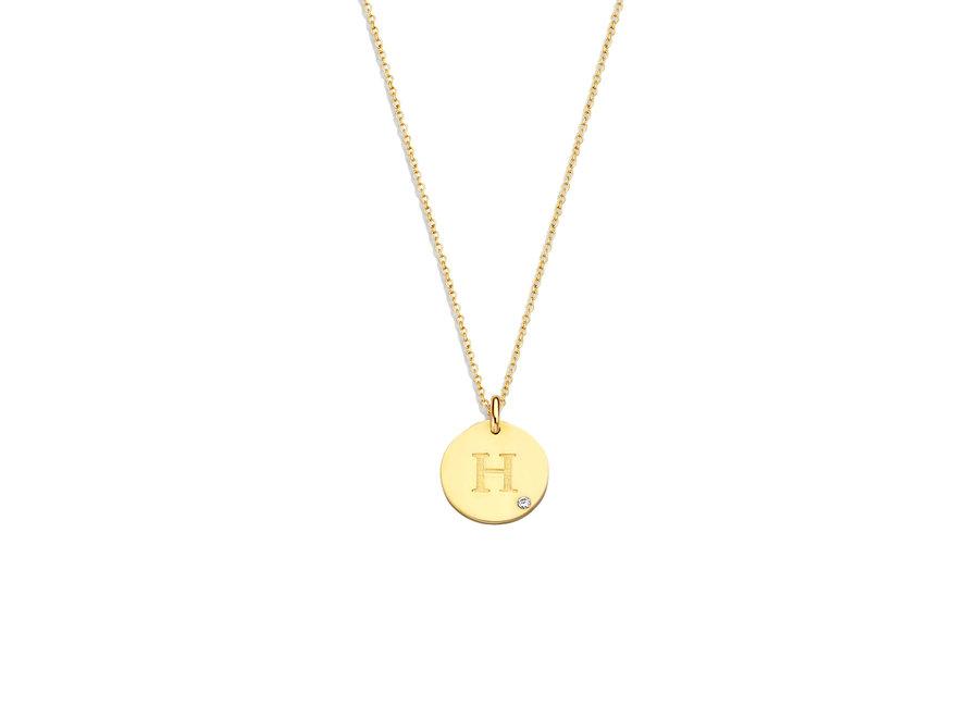 Coin Necklace Midi with Diamond