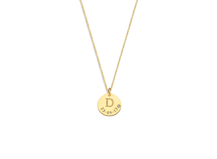 Coin Necklace Midi Diamond with Date