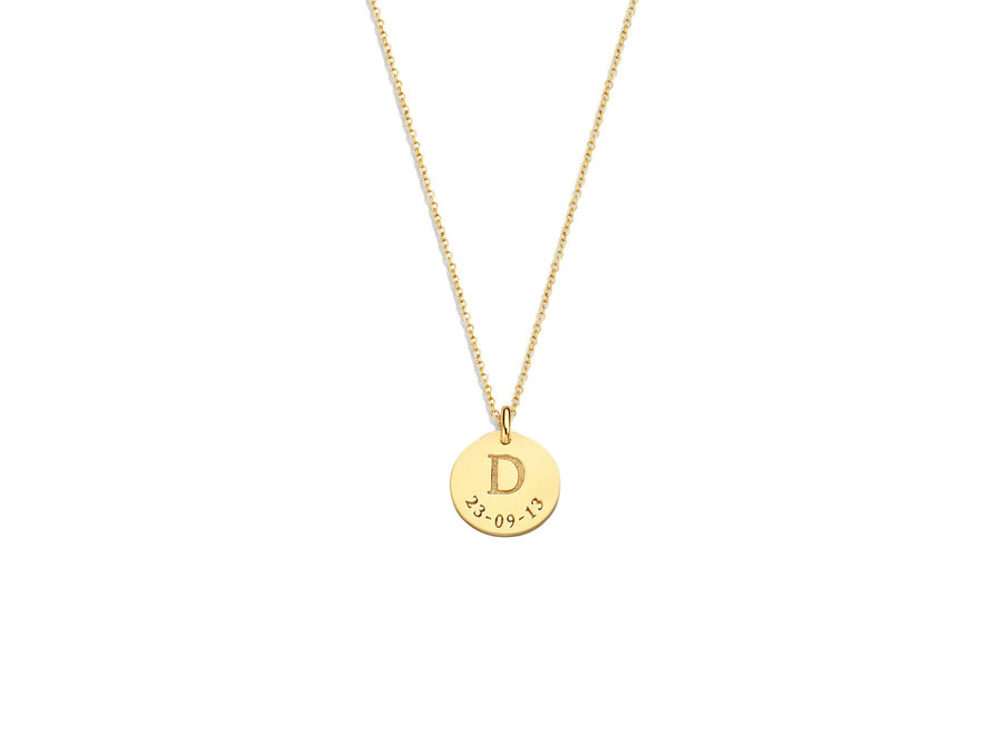 Coin Necklace Midi with Date
