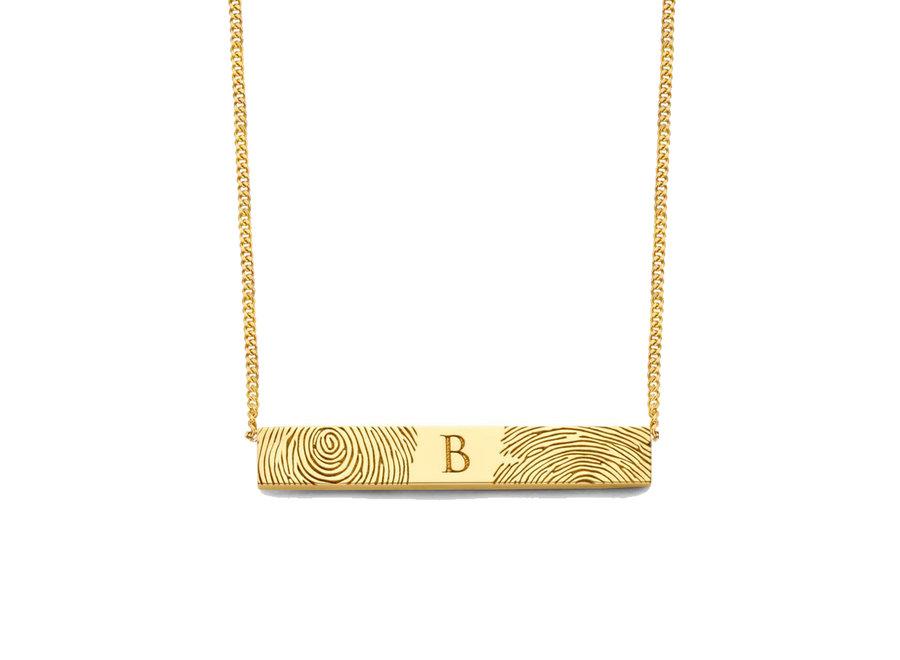 Bar Necklace 2 Fingerprints & Engraving