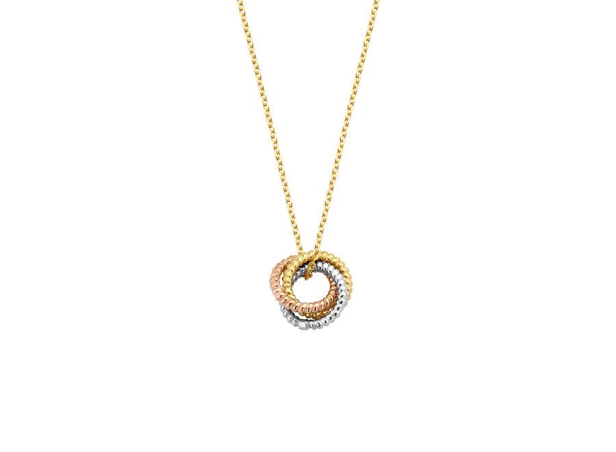 Vintage Necklace Triple Love