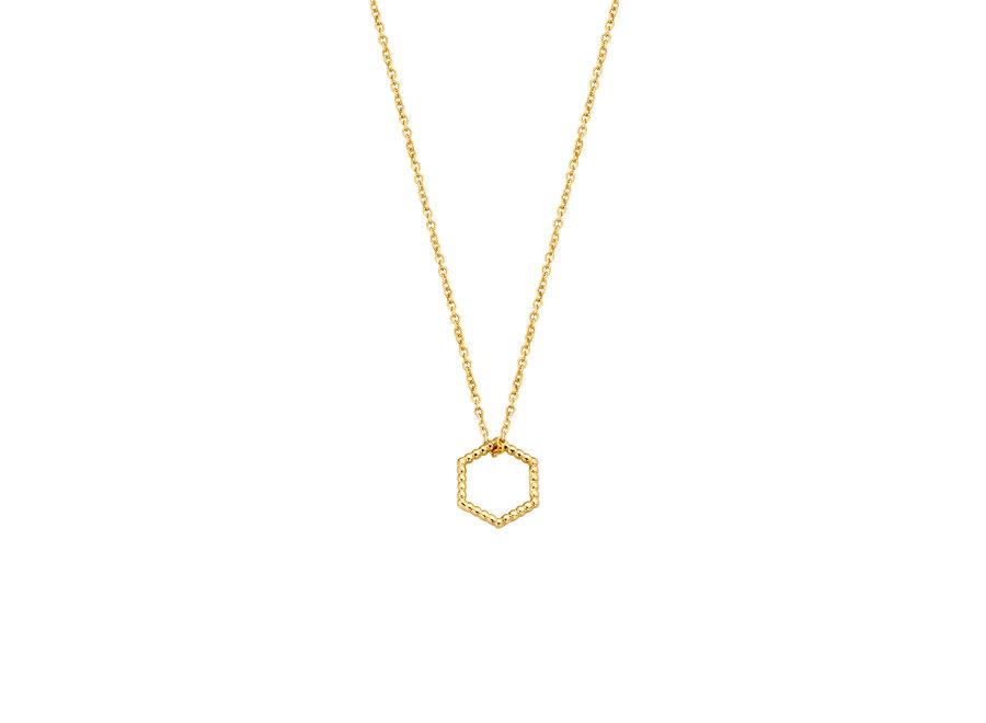 Vintage Necklace Hexagon