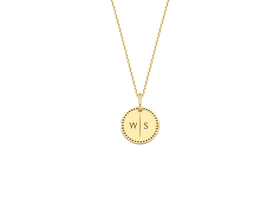 Identity Circle Small Perforated with Necklace 2 letters