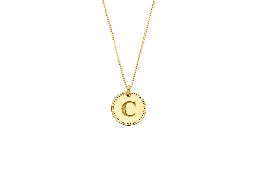 Identity Circle Small Perforated with Necklace